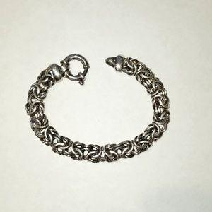 Sterling Silver Italy Byzantine Link Bracelet